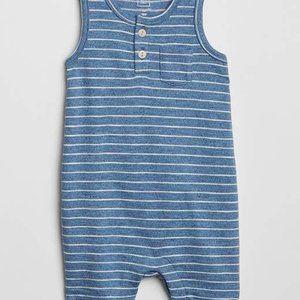 Baby Gap Blue Stripe Tank Shorty One-Piece